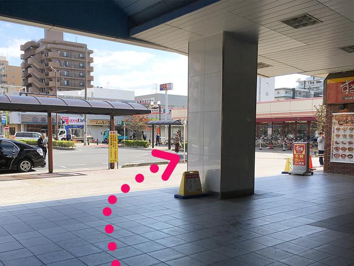 蒲生駅からのご案内2