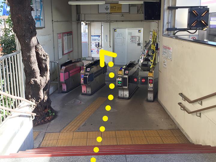 柴崎駅からのご案内1