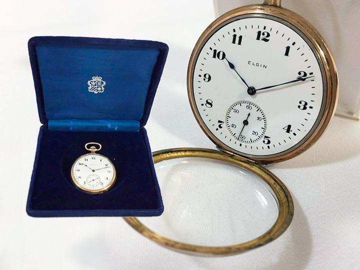 エルジン 手巻き懐中時計 買取りました
