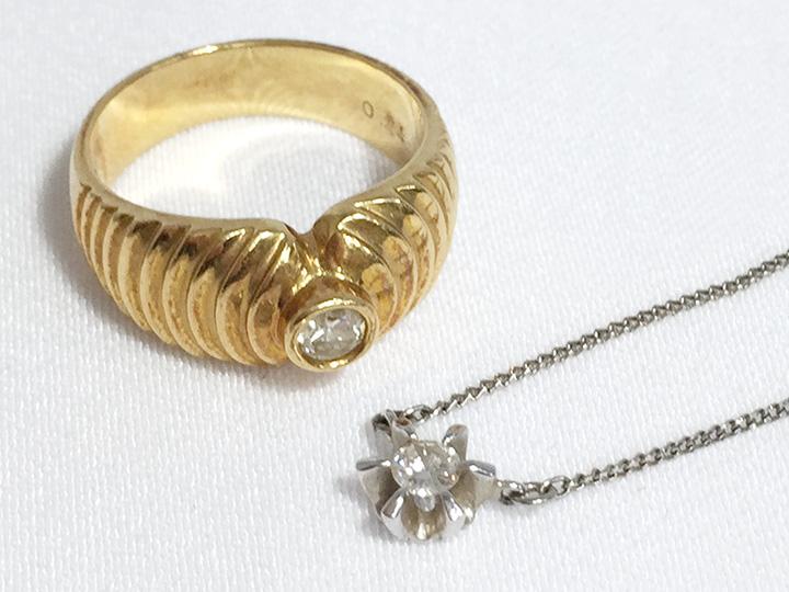 ダイヤモンド リング ネックレス 買取りました