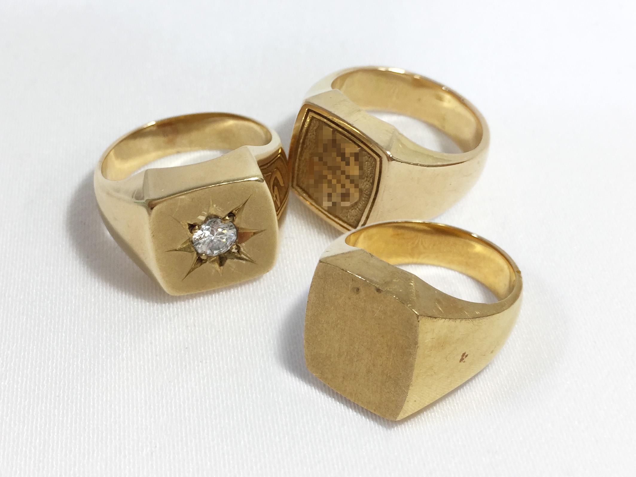 金 印台 指輪 買取りました