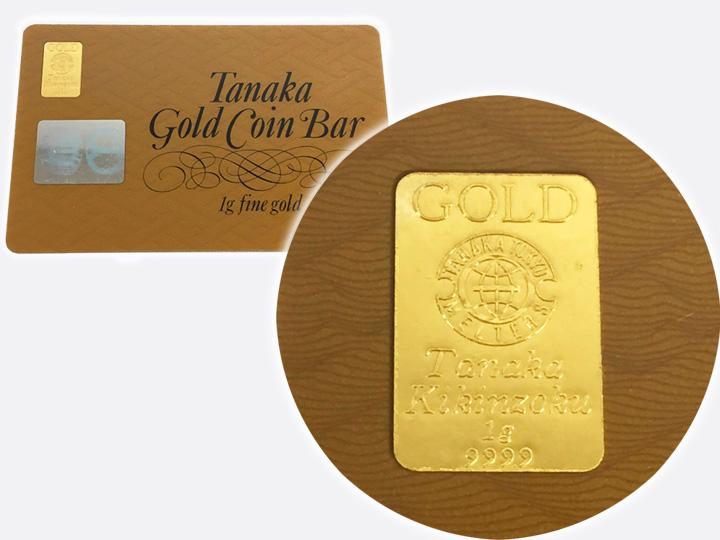 タナカゴールドコインバー(純金 1g) 買取りました
