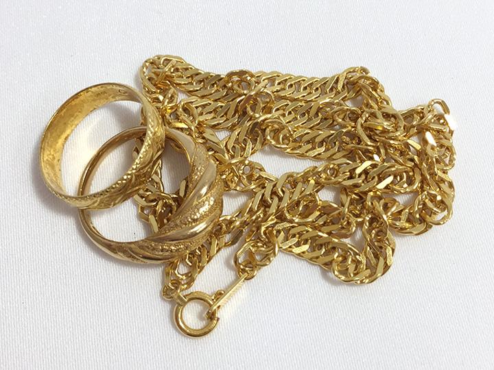 金買取事例:指輪 ネックレス