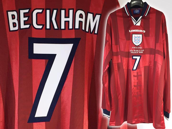 ユニフォーム買取事例:ベッカム 1998 イングランド代表