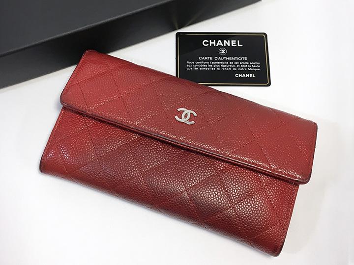 ブランド品買取事例:シャネル マトラッセ 長財布