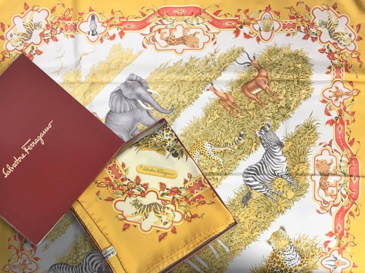 ブランド品買取事例:フェラガモ スカーフ