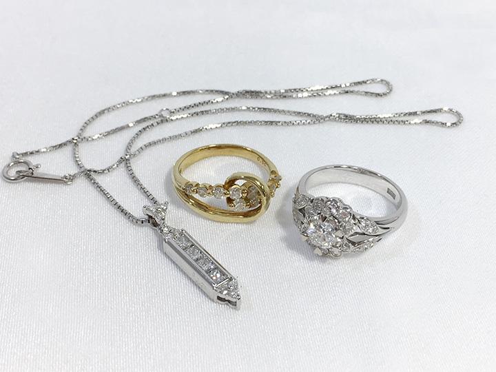 ジュエリー買取事例:ダイヤモンド リング ネックレス