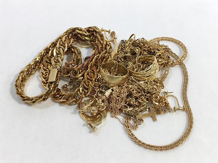 金買取事例:古い指輪 ネックレス