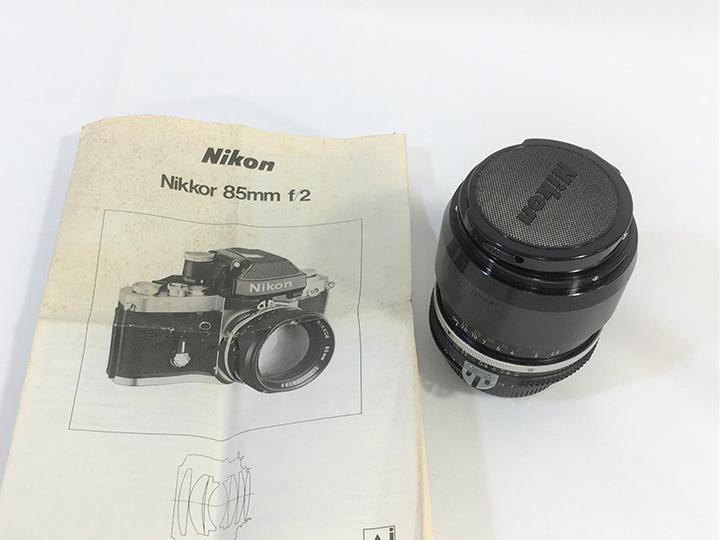 レンズ買取事例:ニッコール 85mm F2