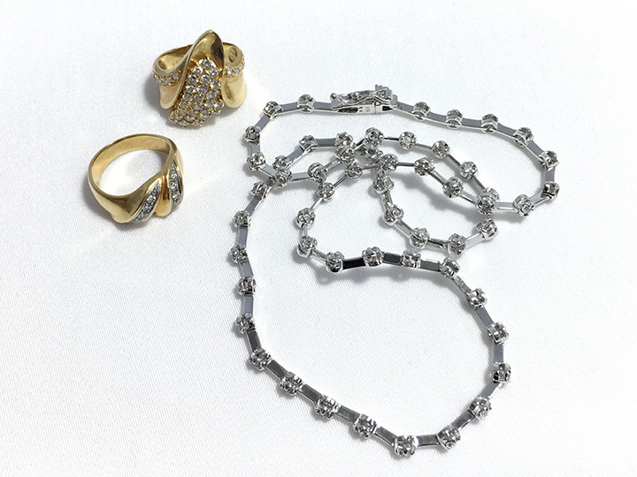 ジュエリー買取事例:ダイヤ リング ネックレス