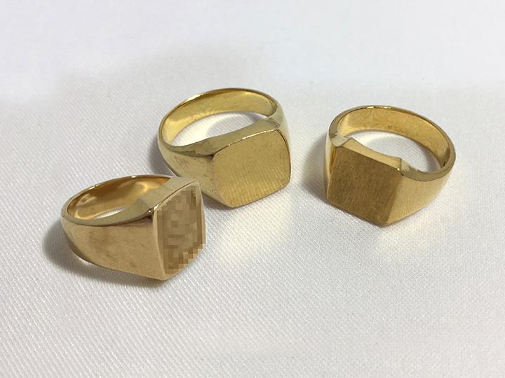 金買取事例:印台指輪